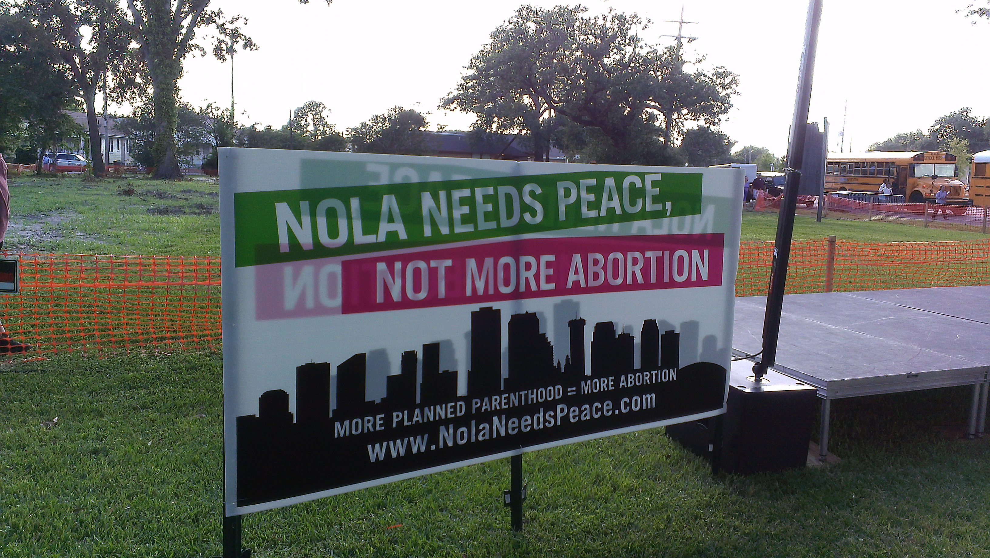 Battle of New Orleans: Fighting the Culture of Abortion - X