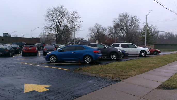 Nearly every car in this lot represents a life lost to abortion....that day.